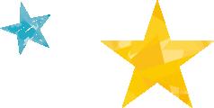 青と黄色の星